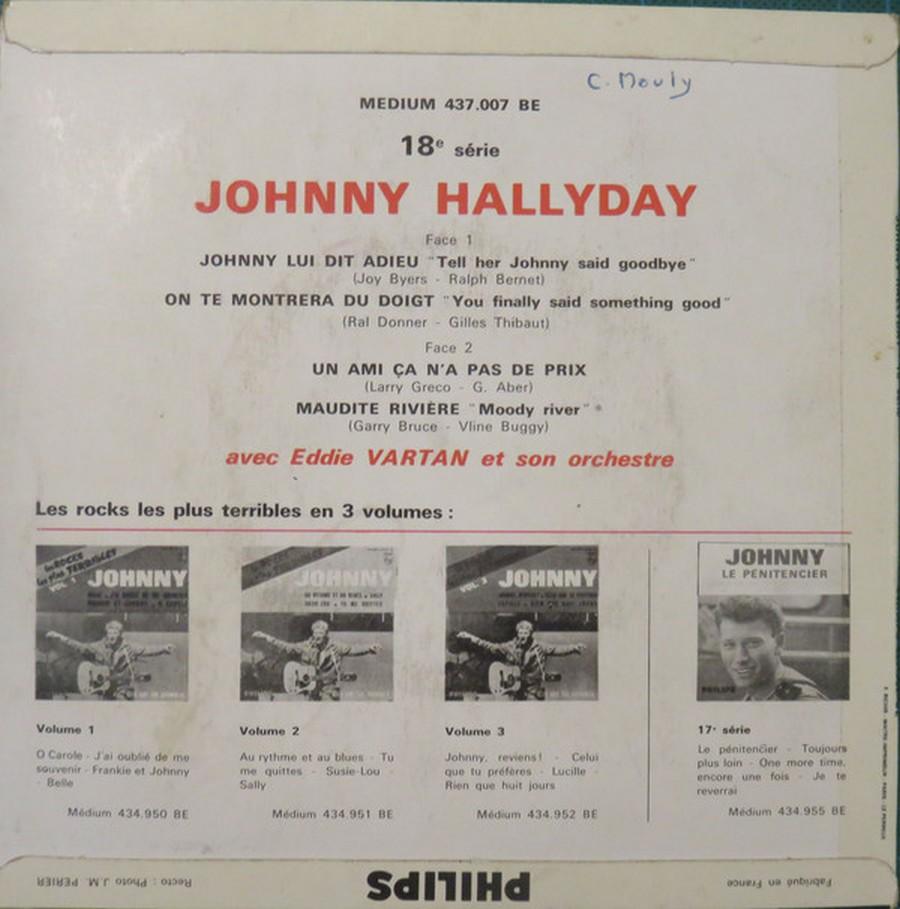 Johnny luit dit adieu ( EP 45 TOURS )( TOUTES LES EDITIONS )( 1965 - 2009 ) 1965_235