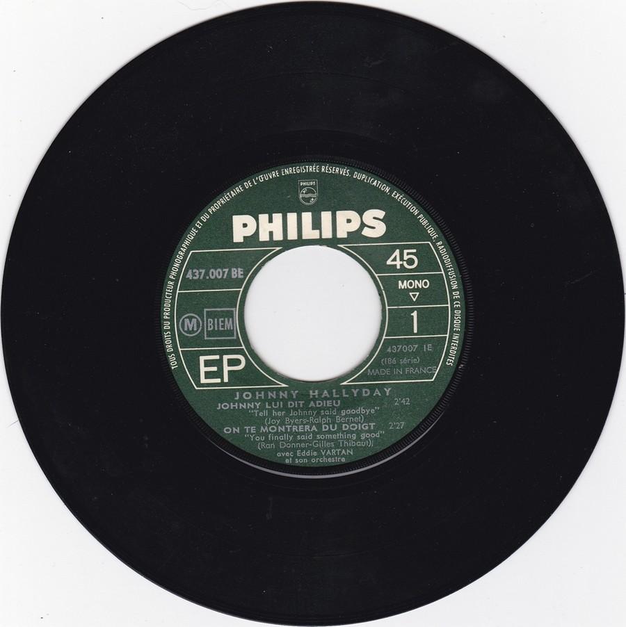 Johnny luit dit adieu ( EP 45 TOURS )( TOUTES LES EDITIONS )( 1965 - 2009 ) 1965_237