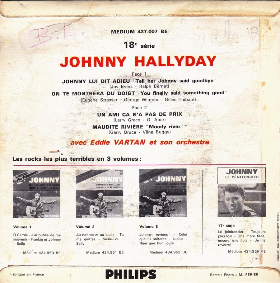 Johnny luit dit adieu ( EP 45 TOURS )( TOUTES LES EDITIONS )( 1965 - 2009 ) 1965_239