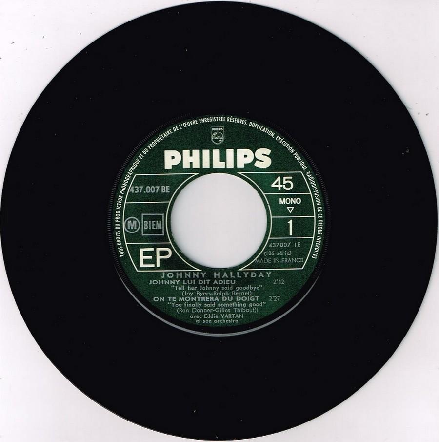 Johnny luit dit adieu ( EP 45 TOURS )( TOUTES LES EDITIONS )( 1965 - 2009 ) 1965_240