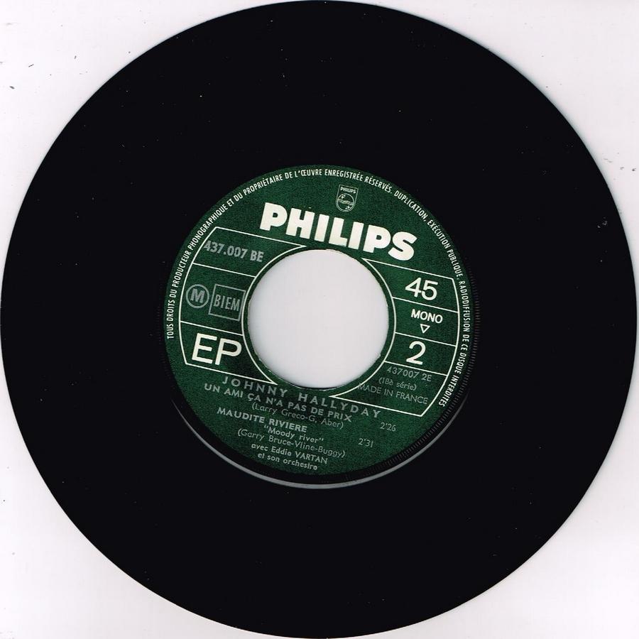Johnny luit dit adieu ( EP 45 TOURS )( TOUTES LES EDITIONS )( 1965 - 2009 ) 1965_242