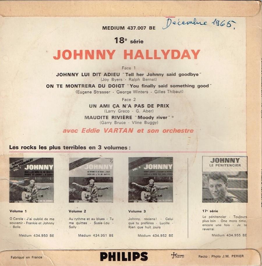 Johnny luit dit adieu ( EP 45 TOURS )( TOUTES LES EDITIONS )( 1965 - 2009 ) 1965_243