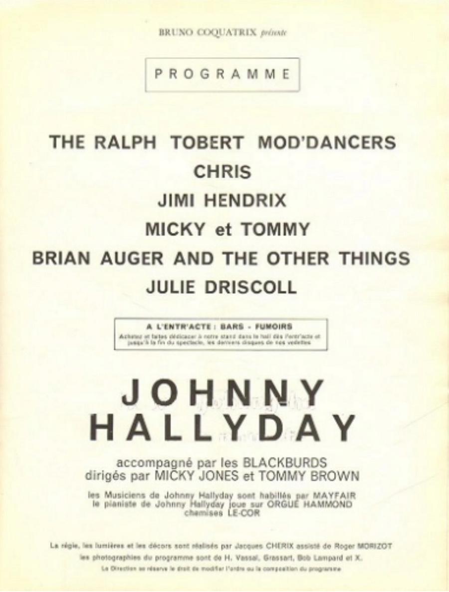 LES CONCERTS DE JOHNNY 'OLYMPIA DE PARIS 1966' 19661010