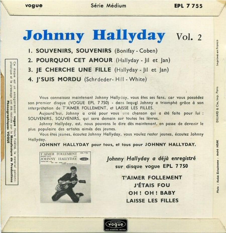 Souvenirs souvenirs ( EP 45 TOURS )( TOUTES LES EDITIONS )( 1960 - 2019 ) 1968_037