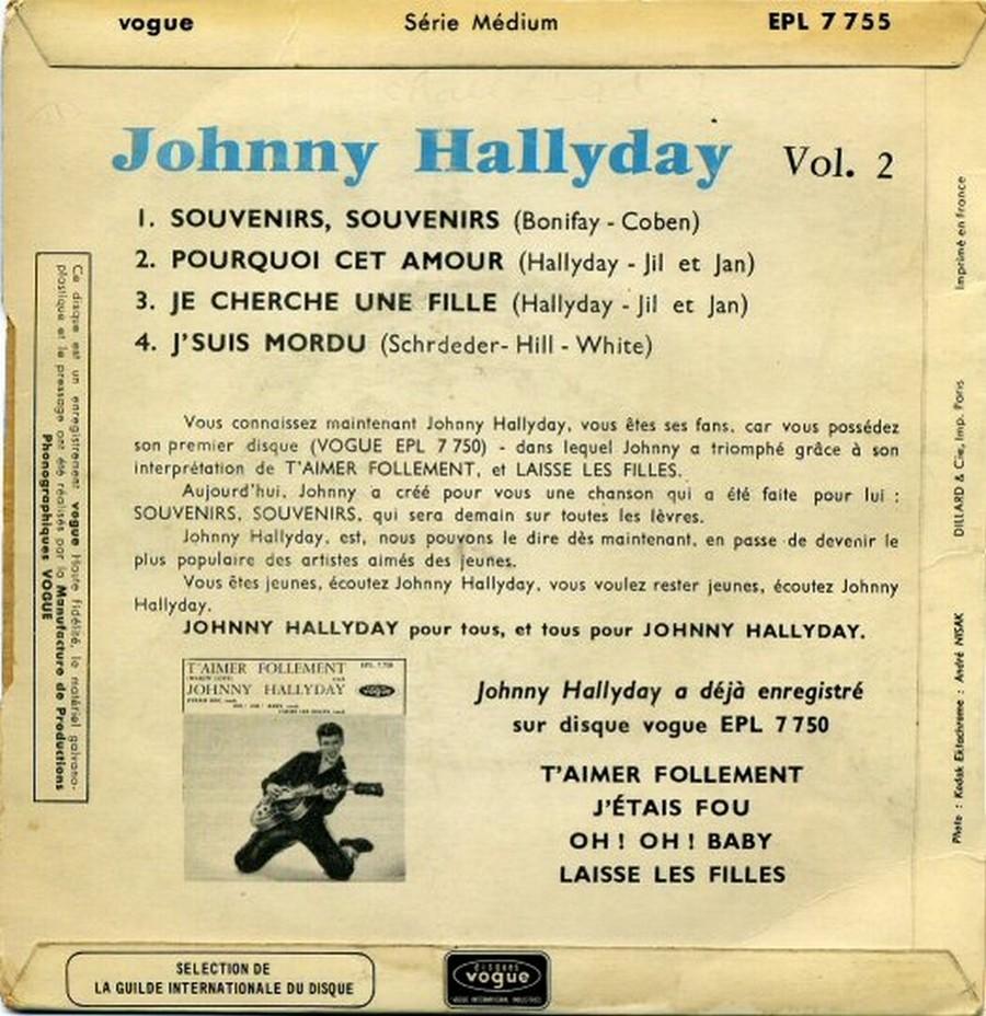 Souvenirs souvenirs ( EP 45 TOURS )( TOUTES LES EDITIONS )( 1960 - 2019 ) 1968_041