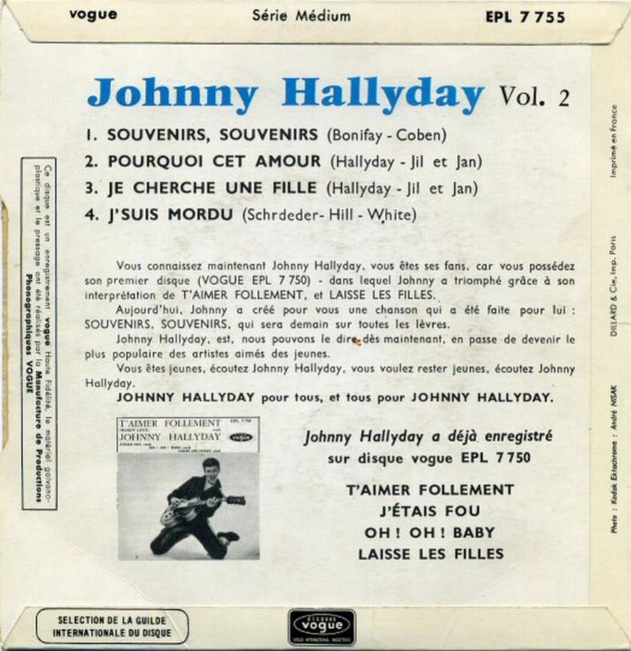 Souvenirs souvenirs ( EP 45 TOURS )( TOUTES LES EDITIONS )( 1960 - 2019 ) 1968_060