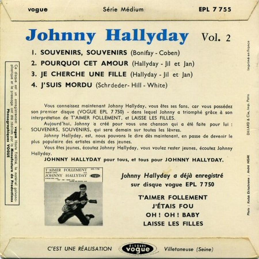Souvenirs souvenirs ( EP 45 TOURS )( TOUTES LES EDITIONS )( 1960 - 2019 ) 1968_064