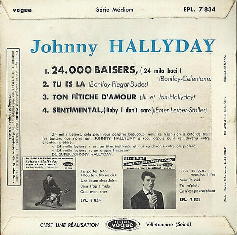 24.000 baisers ( EP 45 TOURS )( TOUTES LES EDITIONS )( 1961 - 2019 ) 1968_084