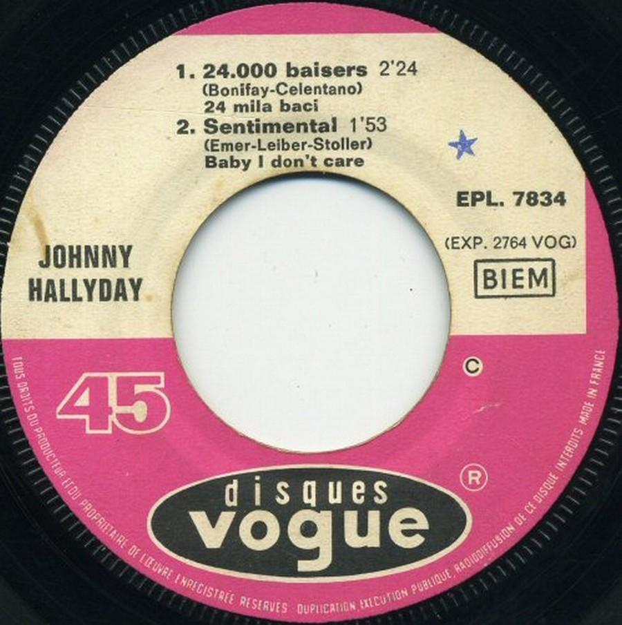 24.000 baisers ( EP 45 TOURS )( TOUTES LES EDITIONS )( 1961 - 2019 ) 1968_087