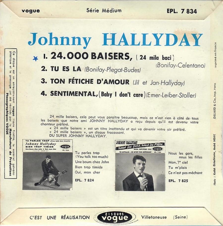 24.000 baisers ( EP 45 TOURS )( TOUTES LES EDITIONS )( 1961 - 2019 ) 1968_088