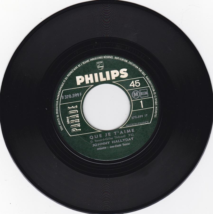 Que je t'aime ( SP )( Différentes variantes ) 1969_018