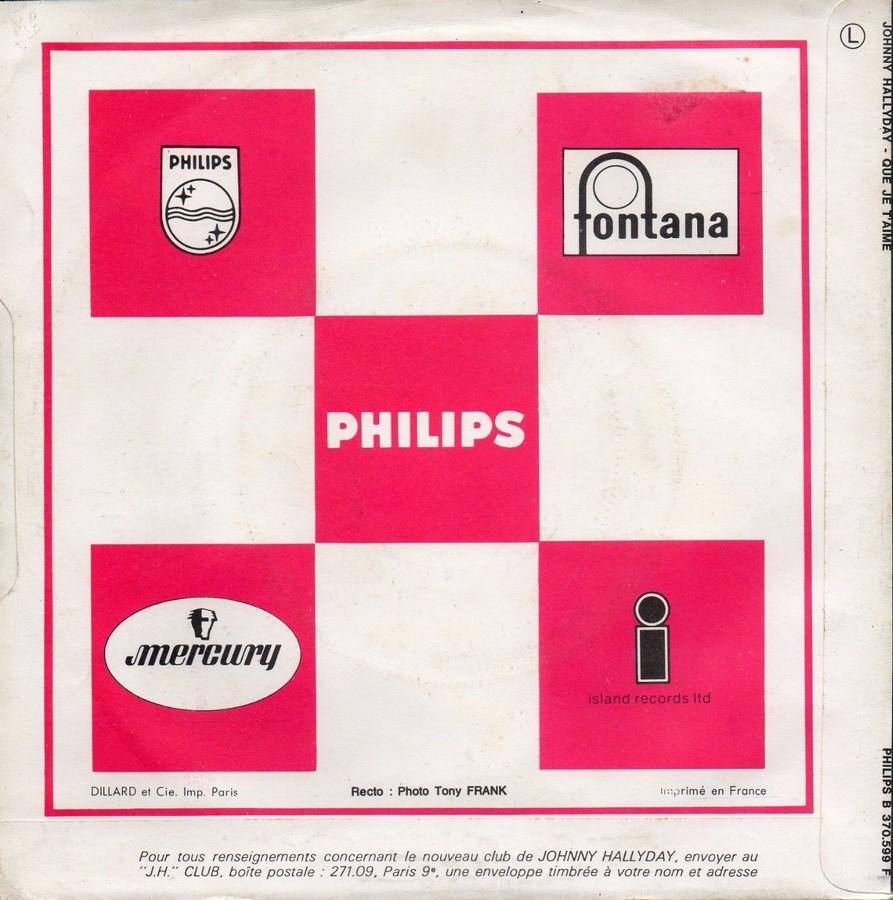 Que je t'aime ( SP )( Différentes variantes ) 1969_034