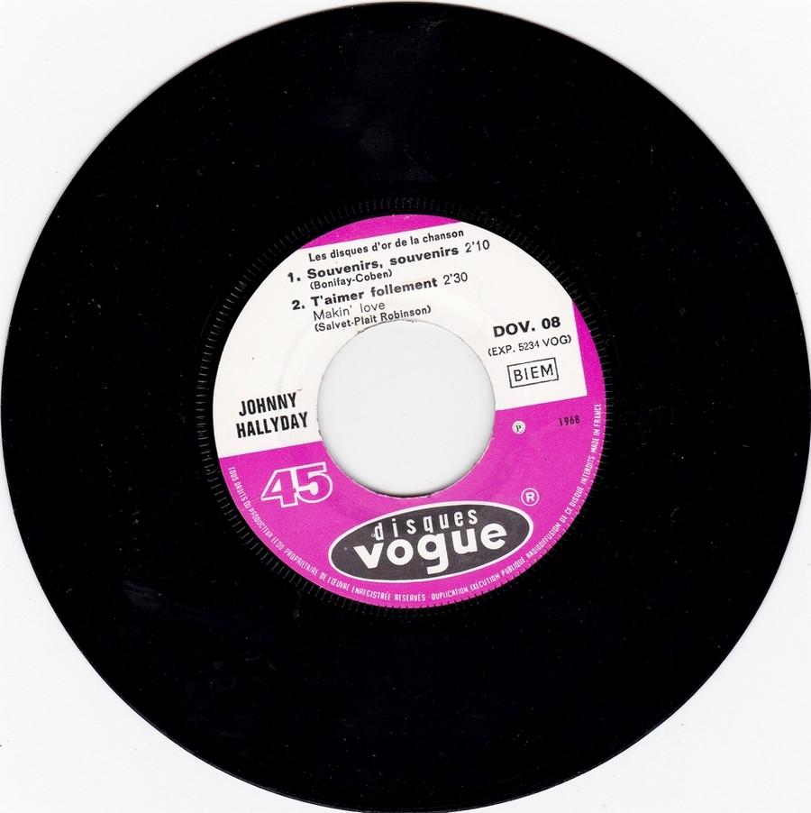 Les disques d'or de la chanson - Souvenirs, souvenirs ( EP 45 TOURS ) 1969_132