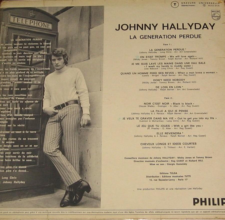 LA GENERATION PERDUE ( 33 TOURS )( TOUTES LES EDITIONS )( 1966 - 2020 ) 1970_017