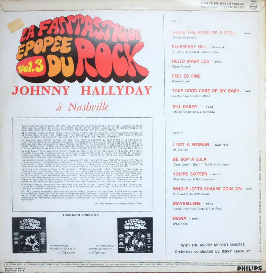 JOHNNY HALLYDAY A NASHVILLE ( 33 TOURS )( TOUTES LES EDITIONS )( 1968 - 1982 ) 1970_j14
