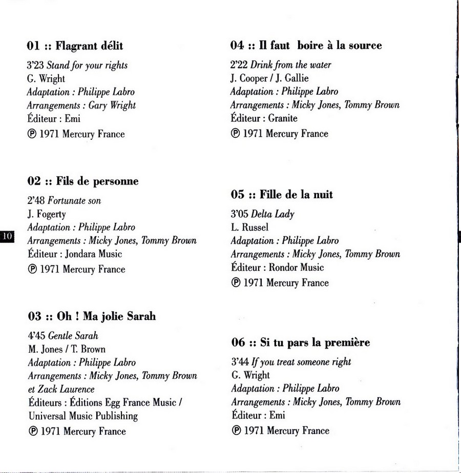 COLLECTION DES 40 ALBUMS CD ( UNIVERSAL )( 2000 ) - Page 2 1971_f22