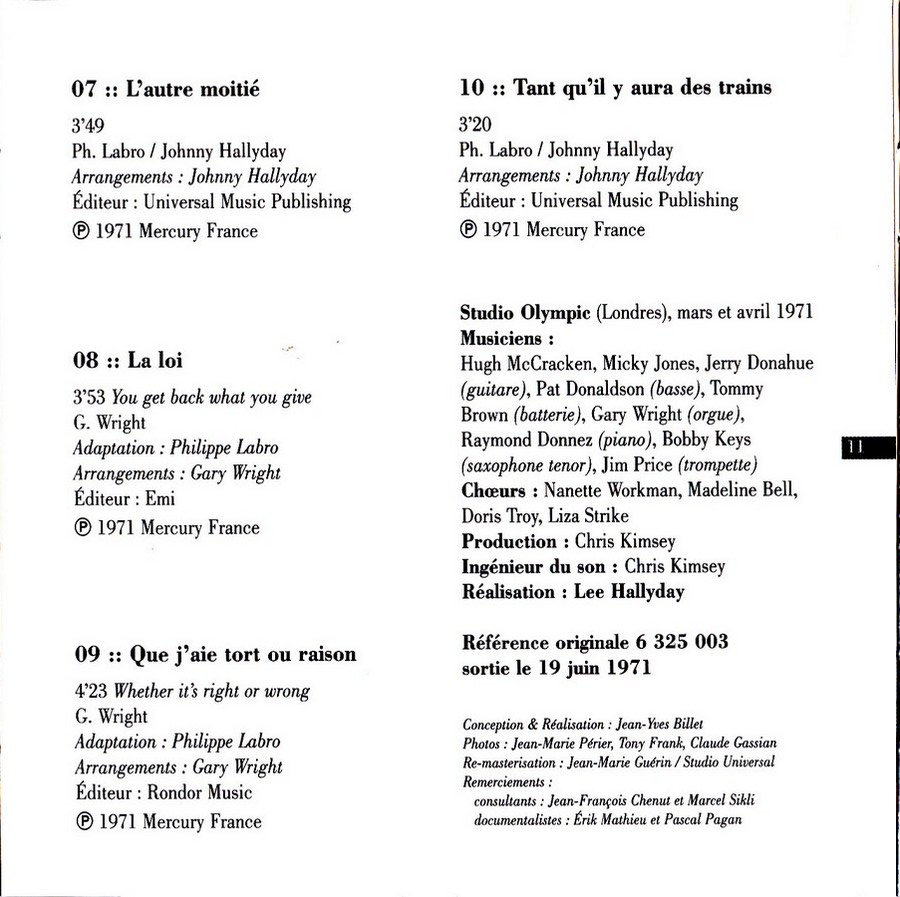 COLLECTION DES 40 ALBUMS CD ( UNIVERSAL )( 2000 ) - Page 2 1971_f23