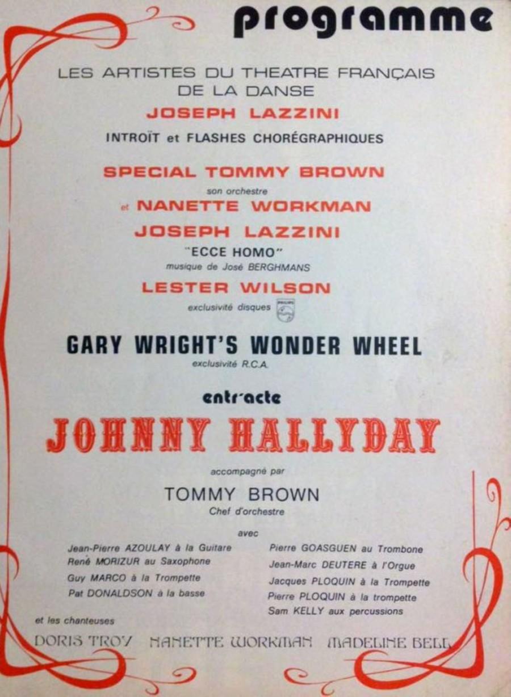 LES CONCERTS DE JOHNNY 'PALAIS DES SPORTS 1971' 1971pa14