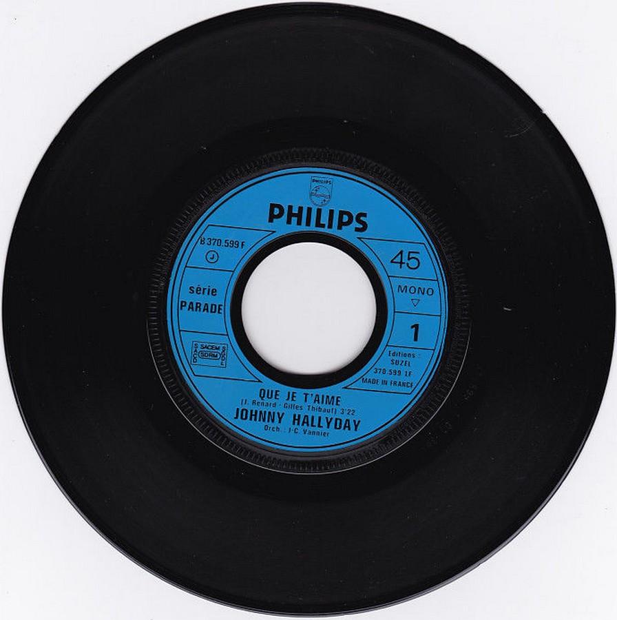 Que je t'aime ( SP )( Différentes variantes ) 1972_011
