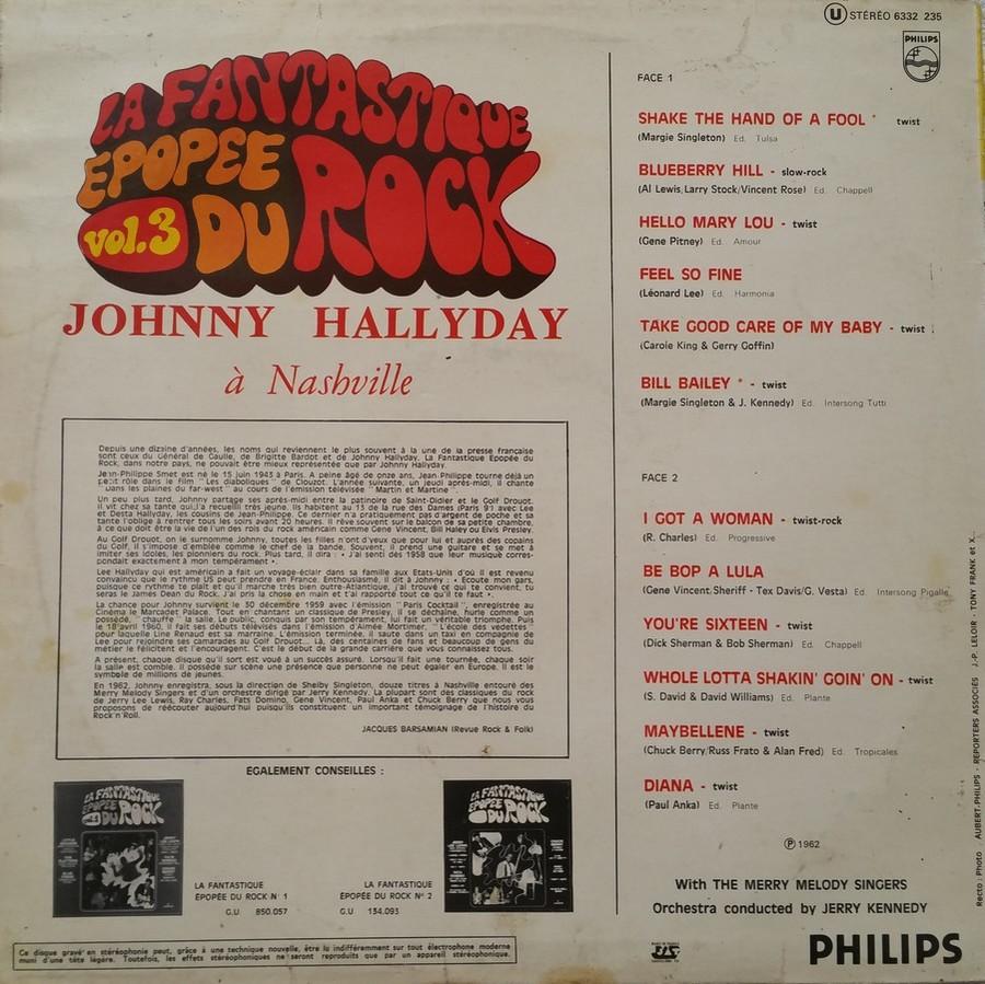 JOHNNY HALLYDAY A NASHVILLE ( 33 TOURS )( TOUTES LES EDITIONS )( 1968 - 1982 ) 1972_j16