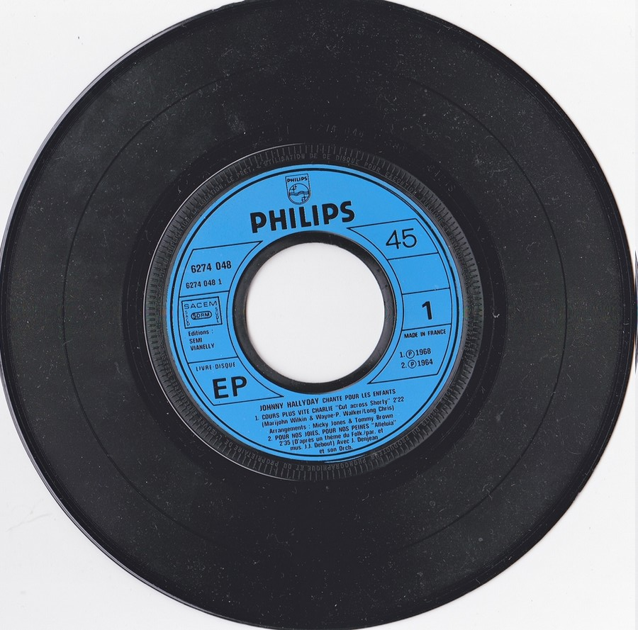 JOHNNY CHANTE POUR LES ENFANTS ( SP  45 tours )( 1973 ) 1973_242