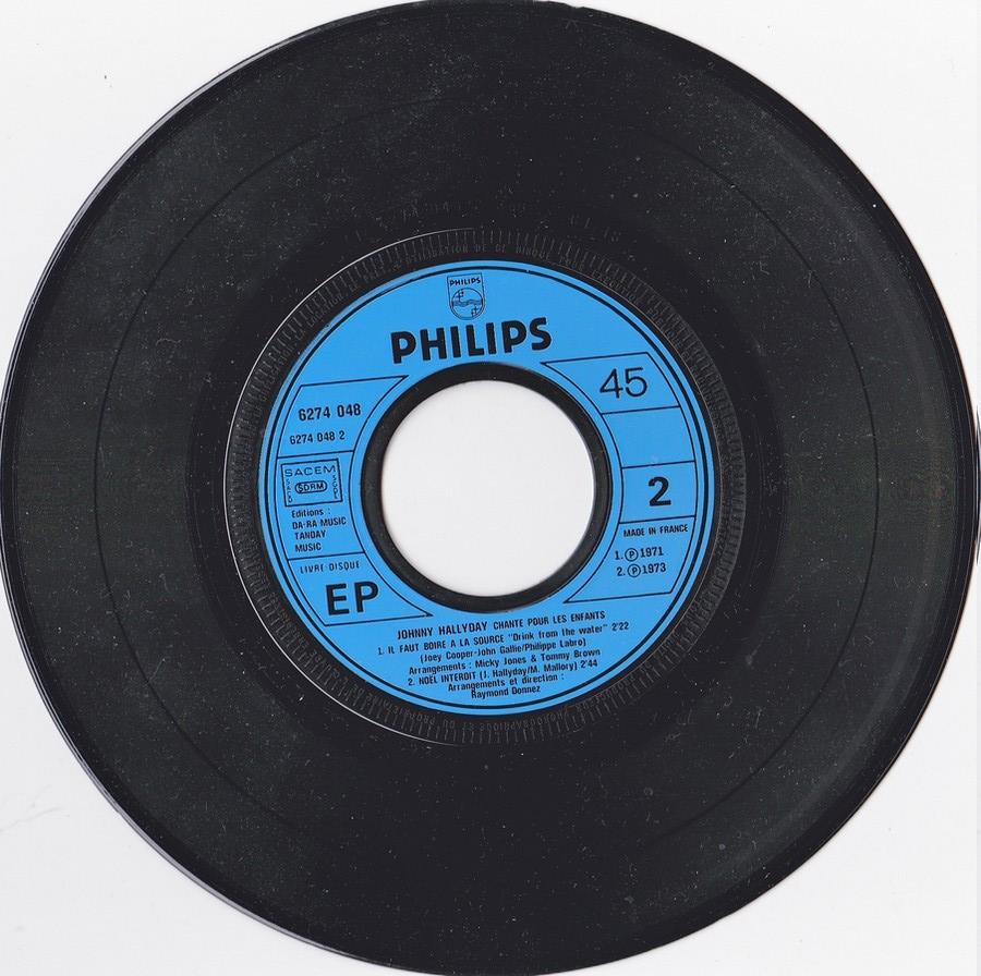 JOHNNY CHANTE POUR LES ENFANTS ( SP  45 tours )( 1973 ) 1973_243