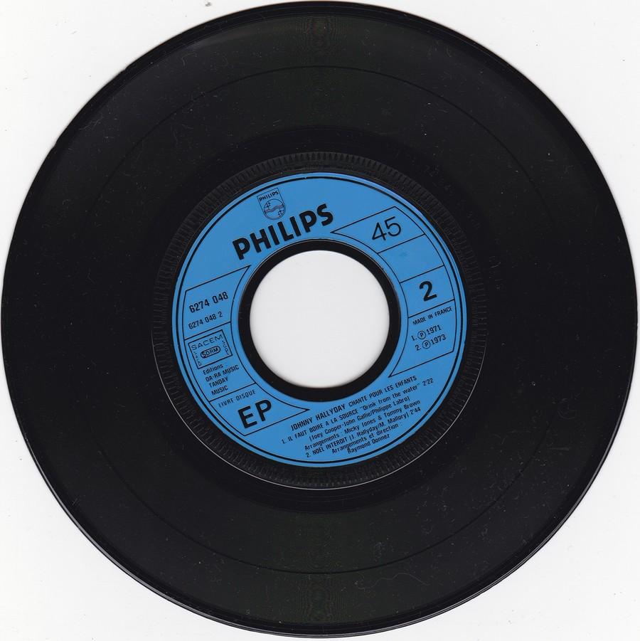 JOHNNY CHANTE POUR LES ENFANTS ( SP  45 tours )( 1973 ) 1973_268