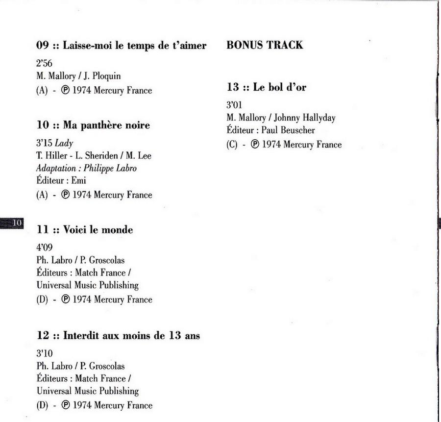 COLLECTION DES 40 ALBUMS CD ( UNIVERSAL )( 2000 ) 2EME PARTIE 1974_r23