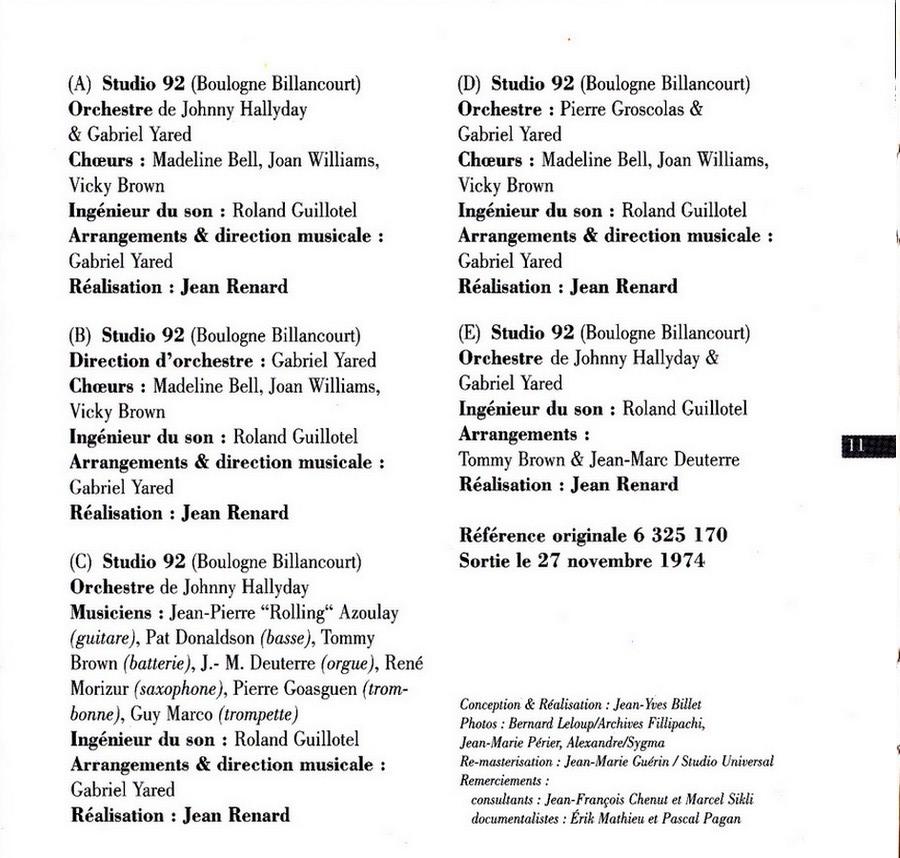 COLLECTION DES 40 ALBUMS CD ( UNIVERSAL )( 2000 ) 2EME PARTIE 1974_r27
