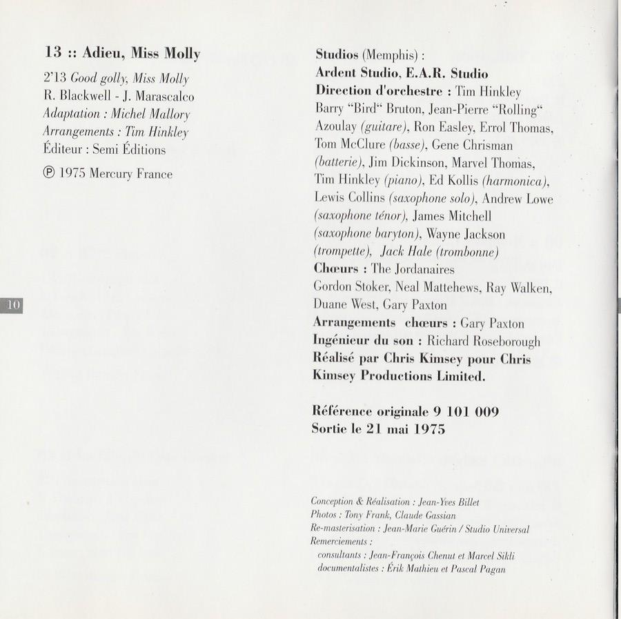 COLLECTION DES 40 ALBUMS CD ( UNIVERSAL )( 2000 ) 2EME PARTIE 1975_r23