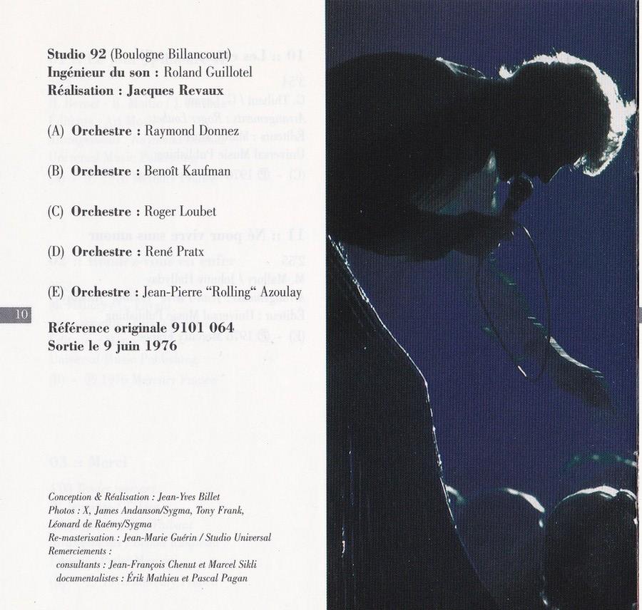 COLLECTION DES 40 ALBUMS CD ( UNIVERSAL )( 2000 ) 2EME PARTIE 1976_d21