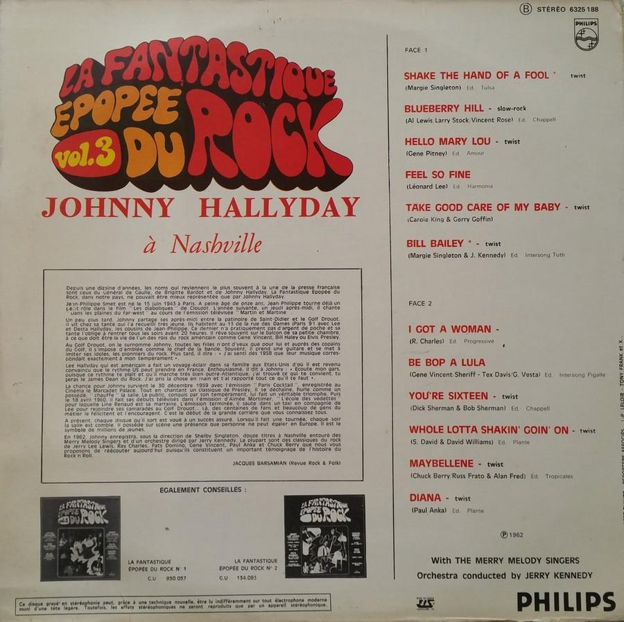 JOHNNY HALLYDAY A NASHVILLE ( 33 TOURS )( TOUTES LES EDITIONS )( 1968 - 1982 ) 1976_j14