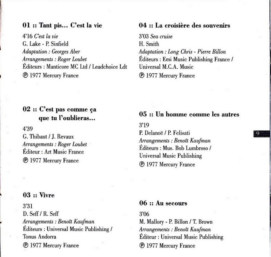 COLLECTION DES 40 ALBUMS CD ( UNIVERSAL )( 2000 ) 2EME PARTIE 1977_c22