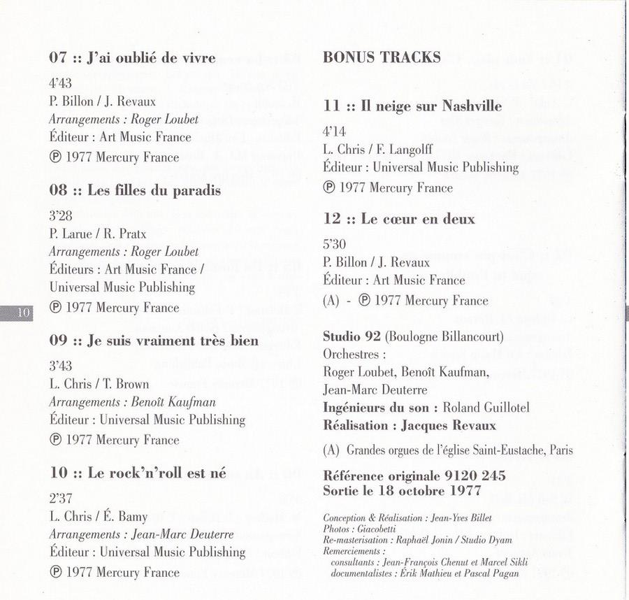 COLLECTION DES 40 ALBUMS CD ( UNIVERSAL )( 2000 ) 2EME PARTIE 1977_c23