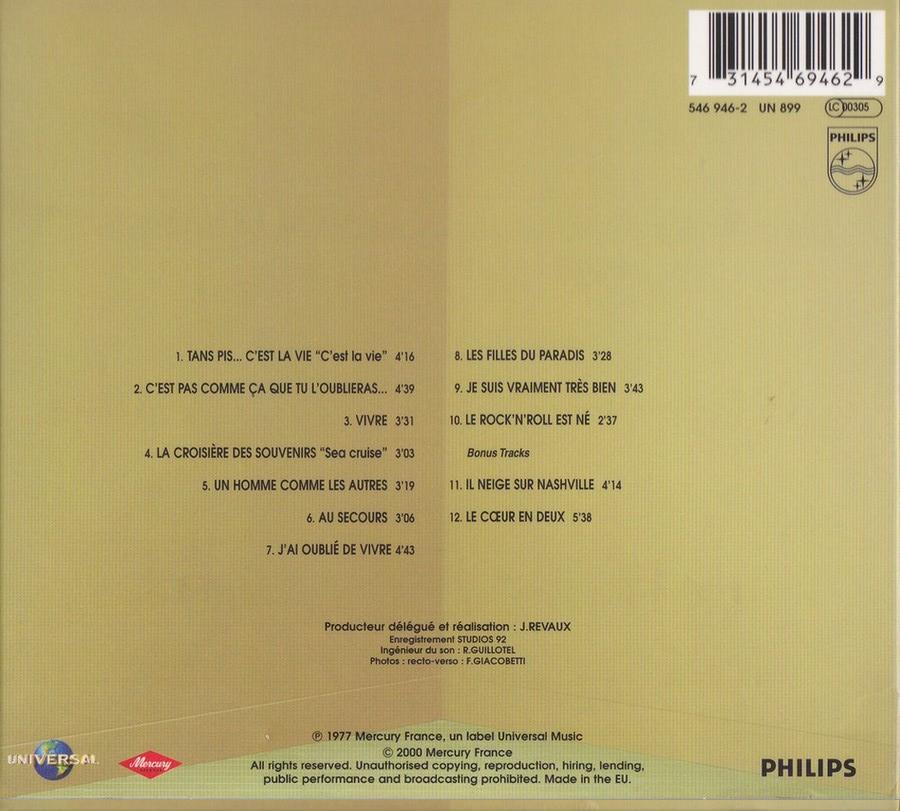 COLLECTION DES 40 ALBUMS CD ( UNIVERSAL )( 2000 ) 2EME PARTIE 1977_c26