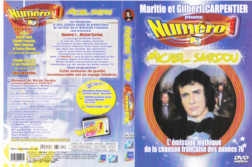 JAQUETTE DVD EMISSIONS TV , DOCUMENTS ,COMPILATIONS , ETC ( Jaquette + Sticker ) 1977_n11