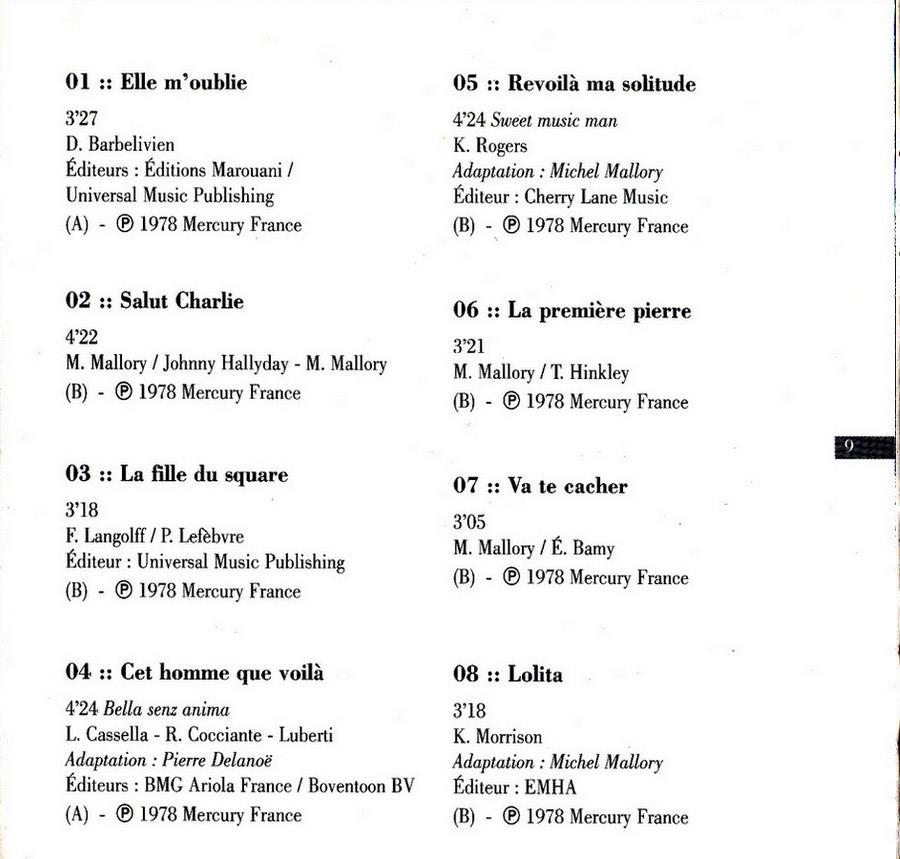 COLLECTION DES 40 ALBUMS CD ( UNIVERSAL )( 2000 ) 2EME PARTIE 1978_s77