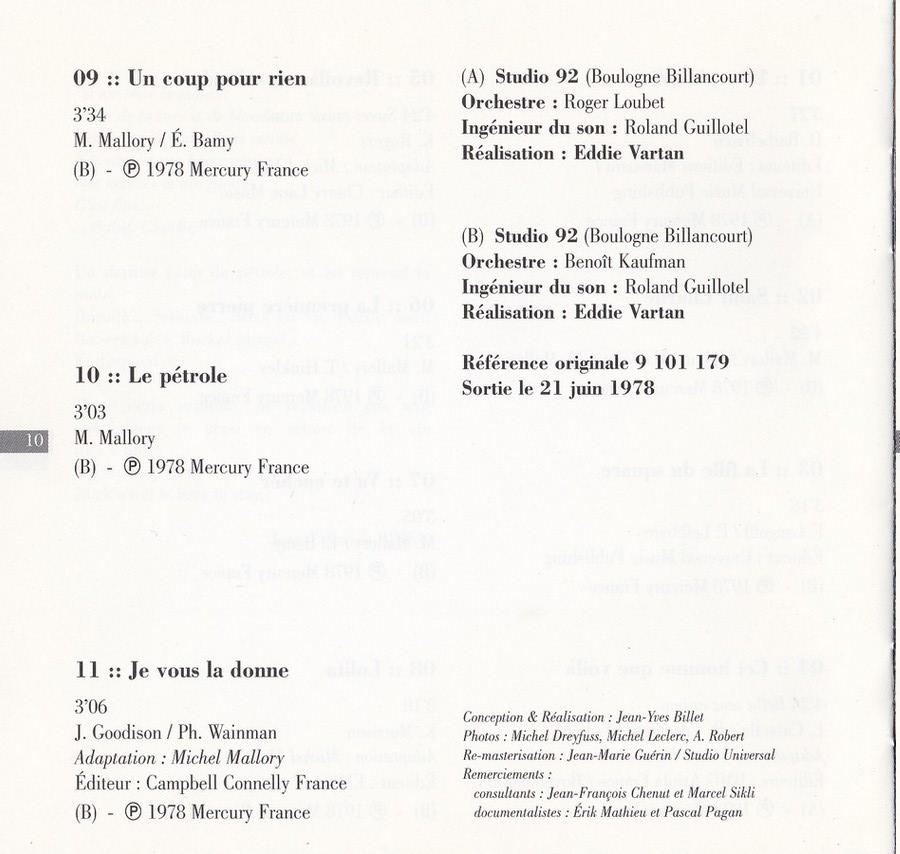COLLECTION DES 40 ALBUMS CD ( UNIVERSAL )( 2000 ) 2EME PARTIE 1978_s78