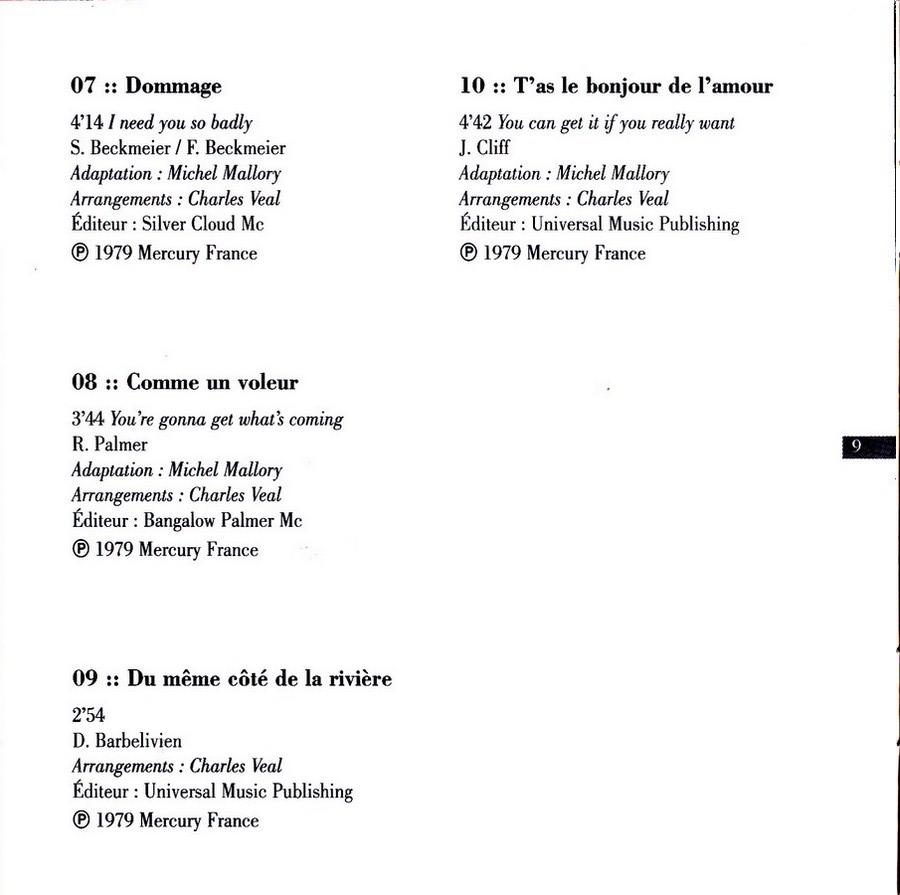 COLLECTION DES 40 ALBUMS CD ( UNIVERSAL )( 2000 ) 2EME PARTIE 1979_h22
