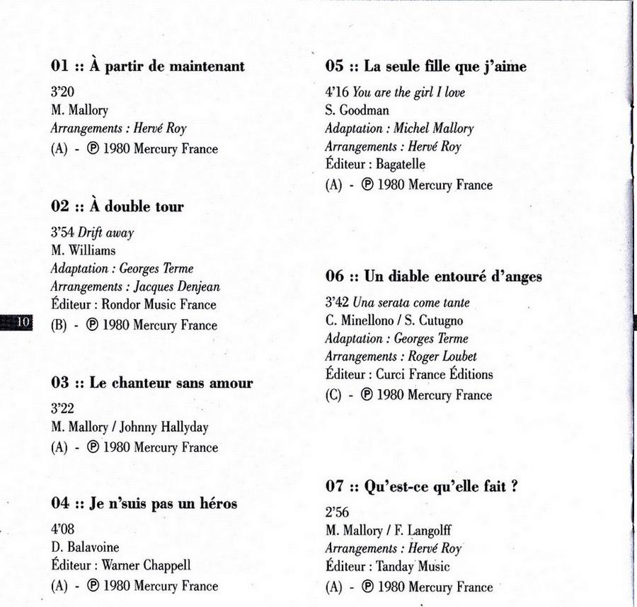 COLLECTION DES 40 ALBUMS CD ( UNIVERSAL )( 2000 ) 2EME PARTIE 1980_a23
