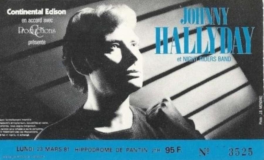LES CONCERTS DE JOHNNY 'HIPPODROME DE PANTIN 1981' 19810311