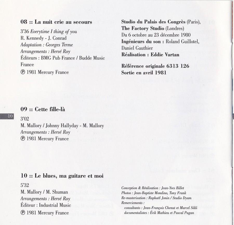 COLLECTION DES 40 ALBUMS CD ( UNIVERSAL )( 2000 ) 2EME PARTIE 1981_e25