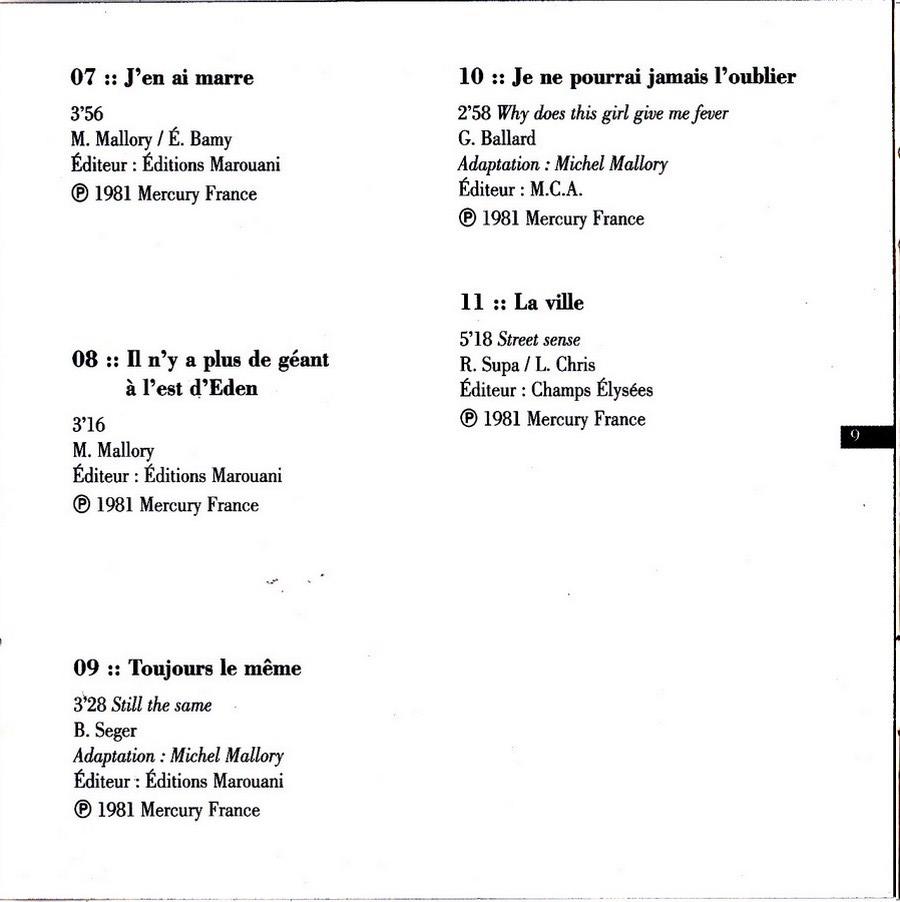 COLLECTION DES 40 ALBUMS CD ( UNIVERSAL )( 2000 ) 2EME PARTIE 1981_p22