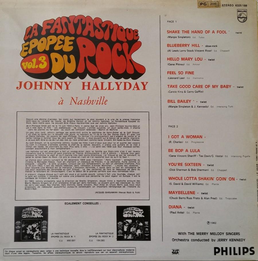 JOHNNY HALLYDAY A NASHVILLE ( 33 TOURS )( TOUTES LES EDITIONS )( 1968 - 1982 ) 1982_j35