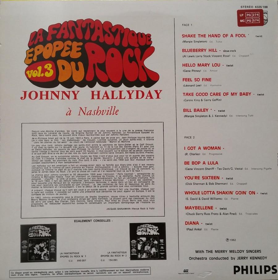 JOHNNY HALLYDAY A NASHVILLE ( 33 TOURS )( TOUTES LES EDITIONS )( 1968 - 1982 ) 1982_j38