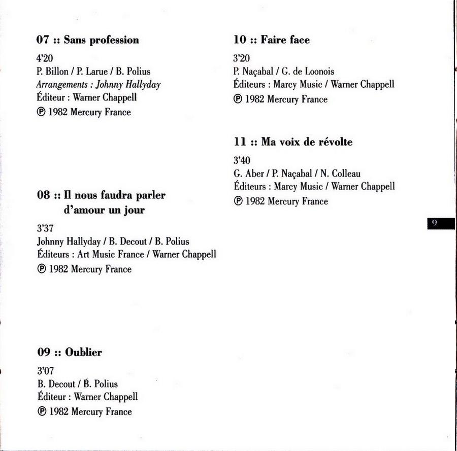 COLLECTION DES 40 ALBUMS CD ( UNIVERSAL )( 2000 ) 2EME PARTIE 1982_l22