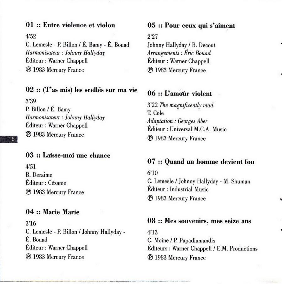 COLLECTION DES 40 ALBUMS CD ( UNIVERSAL )( 2000 ) 2EME PARTIE 1983_e21