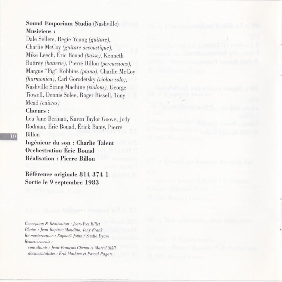 COLLECTION DES 40 ALBUMS CD ( UNIVERSAL )( 2000 ) 2EME PARTIE 1983_e23
