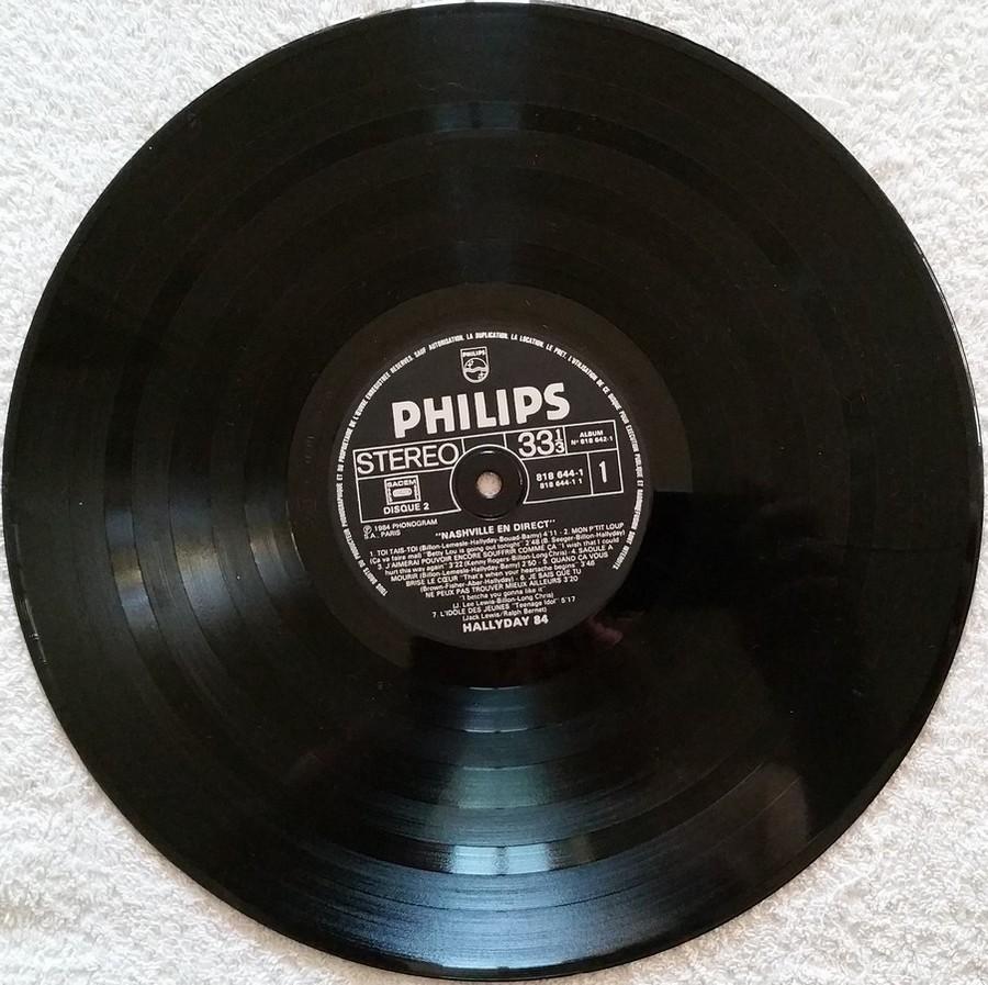 HALLYDAY 84 'NAHSVILLE'  ( 33 TOURS 30CM )( TOUTES LES EDITIONS )( 1984 - 2021 ) 1984_439