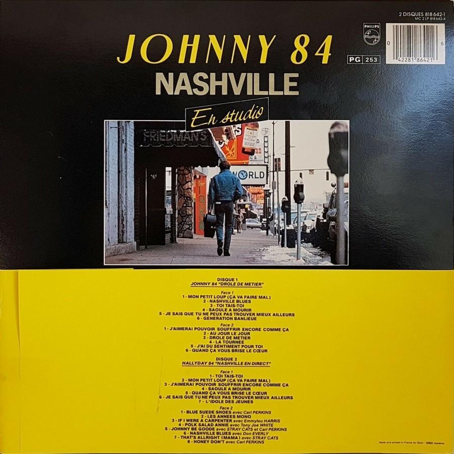 HALLYDAY 84 'NAHSVILLE'  ( 33 TOURS 30CM )( TOUTES LES EDITIONS )( 1984 - 2021 ) 1984_444